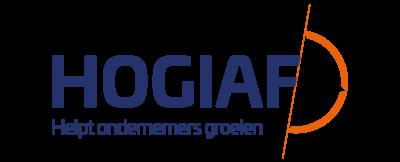 Logo HOGIAF met slogan